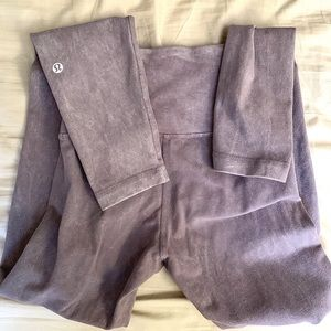 RARE Lululemon acid wash grey leggings